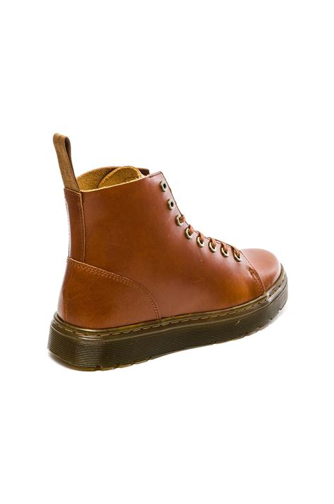 dr martens talib  eye raw boot  oxblood brown lyst