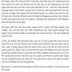 Hardin Scott letter to Tessa in After Movie   Romantic ...