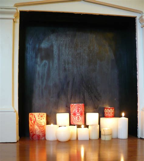 candles in fireplace how to make a faux fireplace a cultivated nest