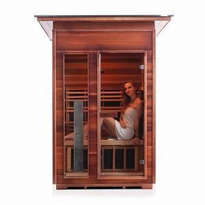 two person outdoor infrared sauna rustic series
