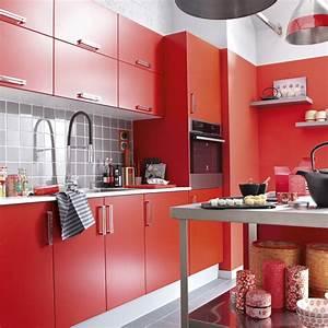 cuisine noir et jaune tabouret bar cuisine rouge blanc With superb quelle couleur avec du jaune 3 cuisine grise marie claire