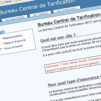 bureau central de tarification plus d 39 informations sur le bureau central de tarification
