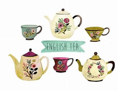 Tea Clipart Cup Cups Clip Pot Tee