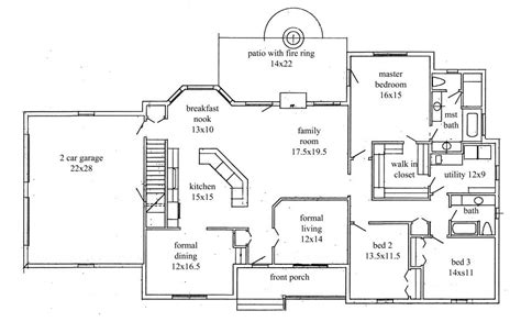 bedroom ranch style house plans fresh house plans