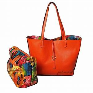 Imoshion Floral Saffiano Texture GIADA 2 Pc Reversible 3 In 1 Vegan Tote Bag EBay