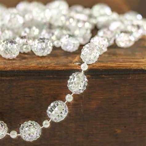 clear iridescent bead garland pearl spools basic craft