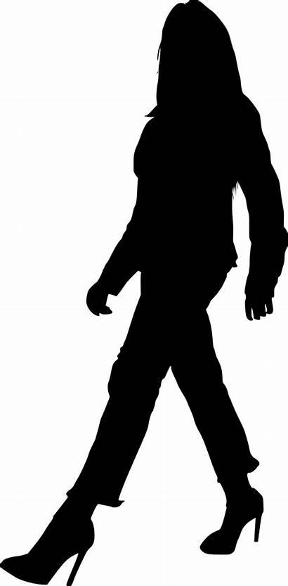 Silhouette Walking Woman Transparent Onlygfx Px 1976