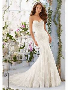 Mori lee 5413 lace mermaid style wedding dress with for Fashion wedding dress