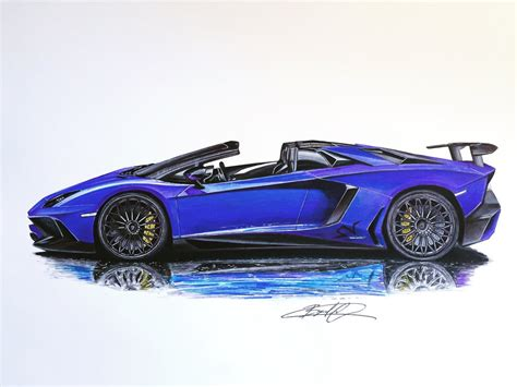 lamborghini aventador sv roadster drawing lamborghini aventador sv roadster by skipperbreak on
