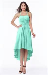 casual bridesmaid dresses seafoam green casual a line sleeveless zip up chiffon asymmetric plus size bridesmaid dresses