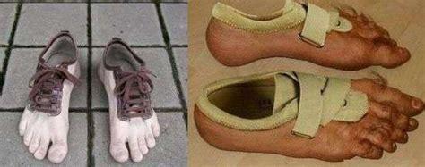 fake hairy toes  nike human shoes