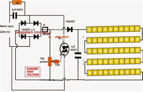 Smd Led Driver Tube Light Circuit Diagram
