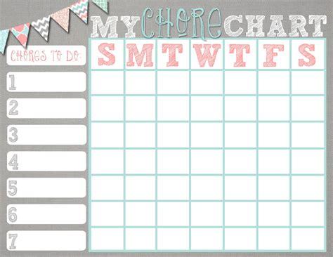 weekly chore chart chore charts printable chore charts for