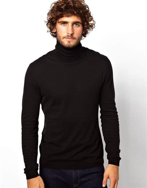 mens black sweater zoe karssen roll neck sweater in black for lyst