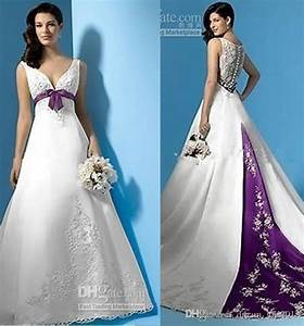 Purple and white wedding dress plus size white and purple for Plus size wedding dresses near me
