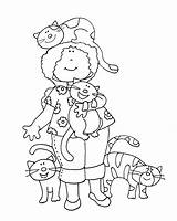 Cat Digi Lady Cats Stamps Digital Crazy Stamp Dolls Coloring Dearie Colouring Drawings Clipart Printable Sure Clip Freedeariedollsdigistamps Animals Embroidery sketch template
