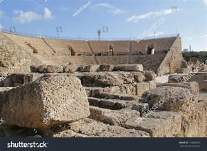 Amphitheater Ruins Caesarea Maritimacity Harbor Built ...