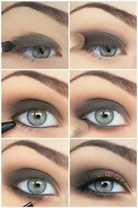 Smokey Eyes Blaue Augen : das augen make up 21 ideen zum betonen blauer augen ~ Frokenaadalensverden.com Haus und Dekorationen