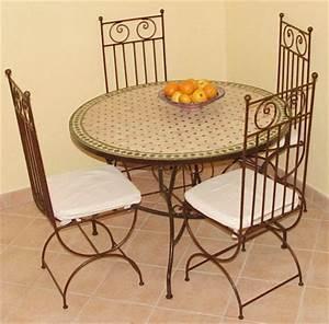Table Mosaique Fer Forgé : chaises en fer forg tables en zellij et mosaique ~ Dailycaller-alerts.com Idées de Décoration