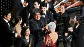 'Parasite' Earns Best-Picture Oscar, First for a Movie Not ...