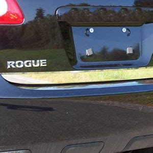 nissan rogue chrome rear deck tailgate trim
