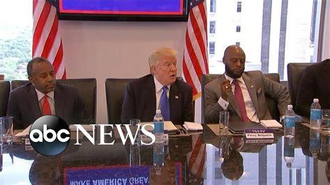 trump meets  black  hispanic leaders  manhattan