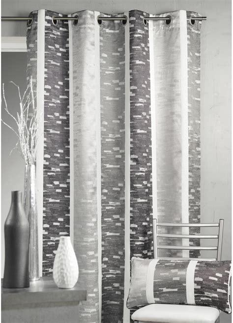 rideau en jacquard design 224 rayures verticales gris bordeaux beige homemaison vente