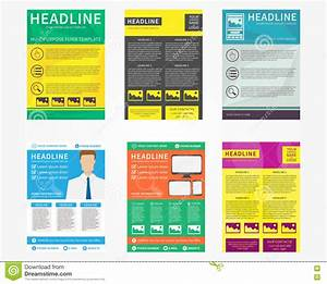 Collection Set Of Flyer, Leaflets, Poster Vector Templates ...