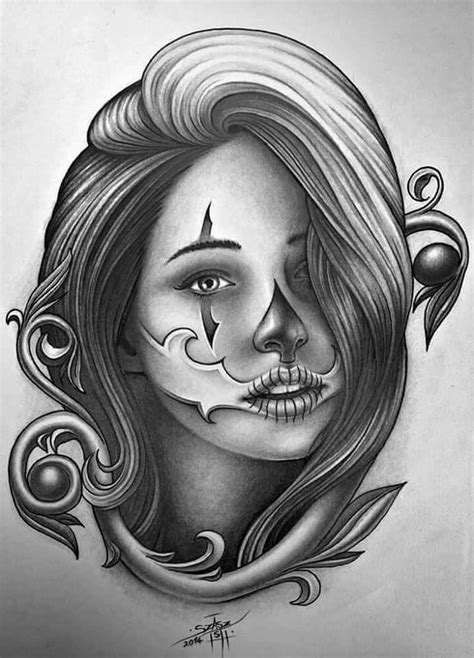 Pin by Fatjon on Deathface   Chicano tattoos, Chicano art, Girl tattoos