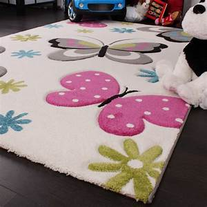 Teppich Für Kinder : kinder teppich schmetterling design pink gr n blau grau ~ A.2002-acura-tl-radio.info Haus und Dekorationen