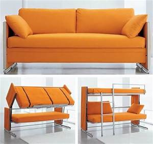 folding couch and bunk beds just plain awesome pinterest With sofa that folds into bed