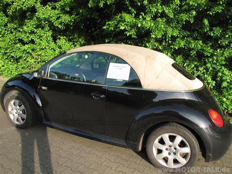 Beetle Cabrio Ohne Garage by Vw Beetle Cabrio Schwarz Beige Unfallrei