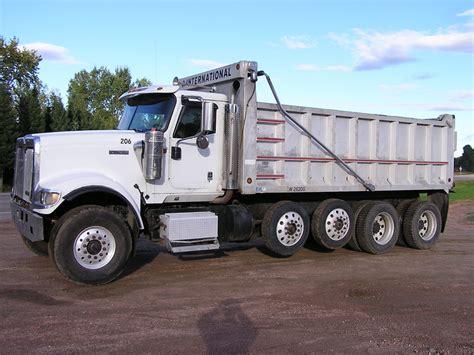 international  quad axle dump truck  sale