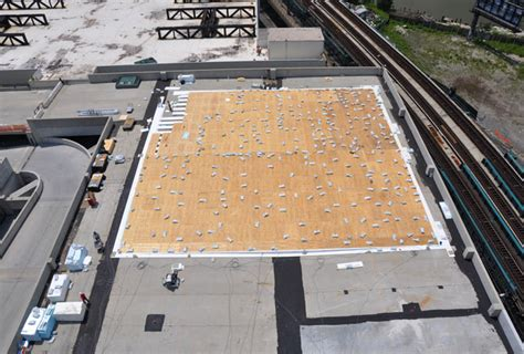 outdoor rooftop tennis basketball court installation  flushing ny classic turf company