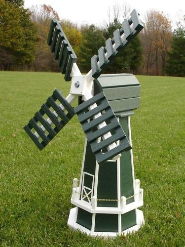details   poly dutch windmill green