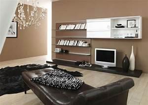 Modernes Braunes Wohnzimmer Design Ideen