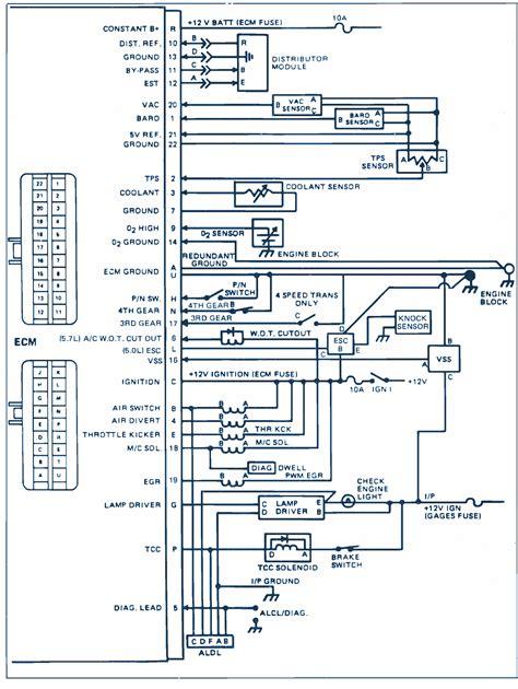 87 El Camino Wiring Diagram by 1985 Chevrolet El Camino V8 Wiring Diagram Auto Wiring