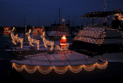 Boat Lights In Kemah by Decorations On A Boat In Kemah