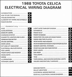 1988 Toyota Celica Wiring Diagram Manual Original