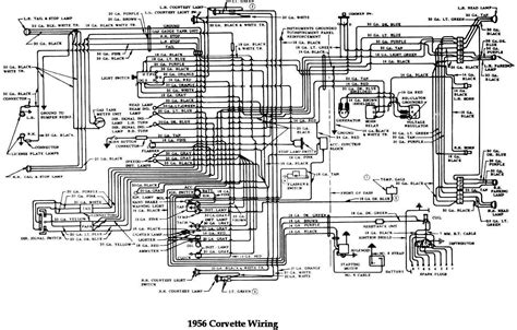 1956 Chevy Truck Wiring Diagram by 1956 Chevrolet Corvette Wiring Diagram All About Wiring