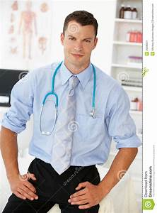 Young Male Doctor In Consulting Room Stock Image - Image ...