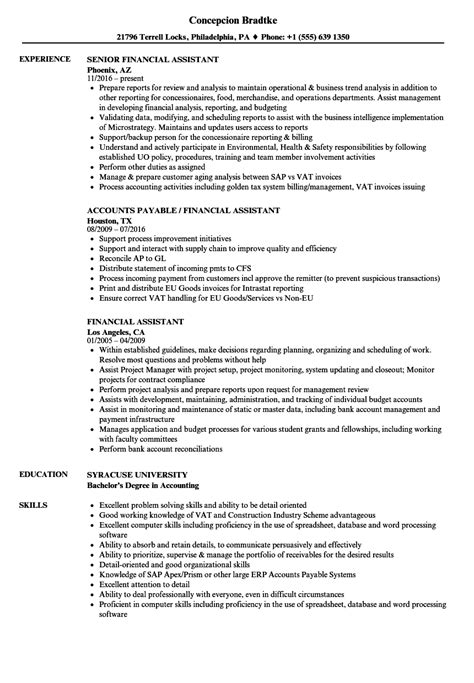 Assistant Resume by Finance Assistant Resume Bijeefopijburg Nl