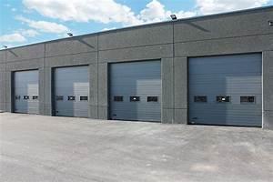 portes industrielles sectionnelles motorisees smf services With porte de garage sectionnelle industrielle