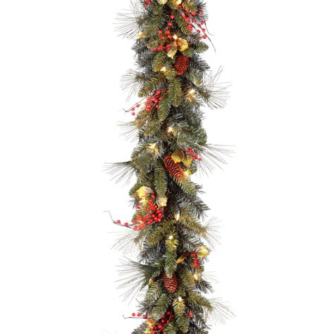 ft holiday decorated pre lit garland  hayneedle