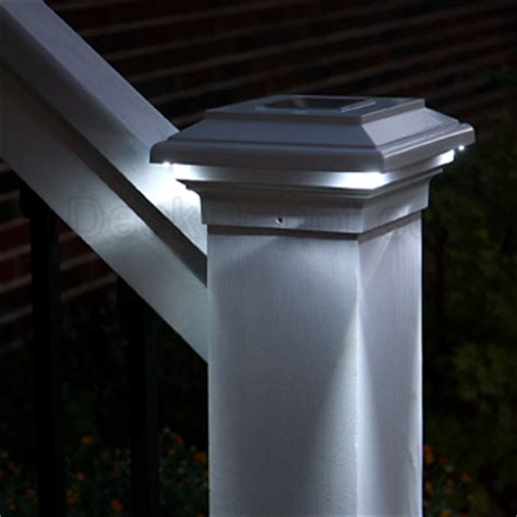 solar deck cap lights aries solar post cap light by aurora deck lighting
