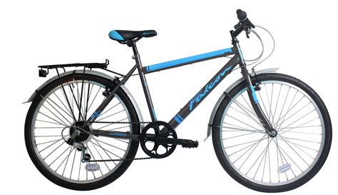 mens motorbike falcon explorer mens 6 speed city hybrid bike with