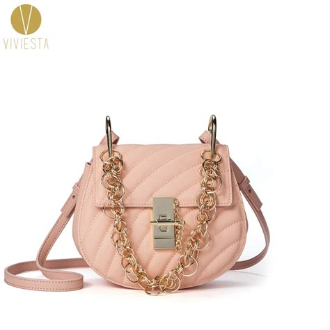 saddle bag quilted inspired leather street lady mini genuine famous bags chain