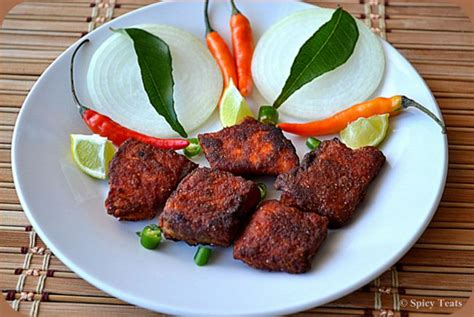 spicy treats salmon fish fry indian style
