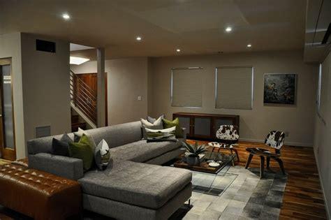 Mid Century Modern Open Concept Living Room Midcentury