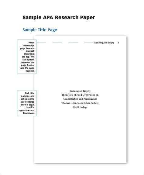 Download a research paper example online, as it may greatly help you to build a proper structure FREE 5+ Sample Research Paper Templates in PDF